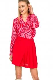 Kocca |  Zebra print blouse Ghirola | pink  | Picture 2