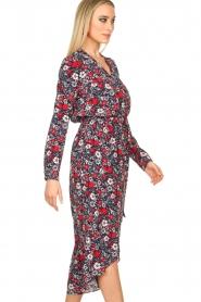 Kocca |  Floral maxi dress Autim | red  | Picture 5
