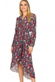 Kocca |  Floral maxi dress Autim | red  | Picture 2