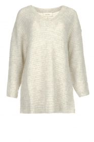 American Vintage |  Knitted V-neck sweater Vapcloud | grey  | Picture 1