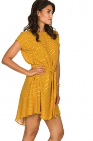 American Vintage | Dress with print Azulay | yellow  | Picture 4