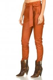 Dante 6 | Leather pants Duncan | camel  | Picture 4