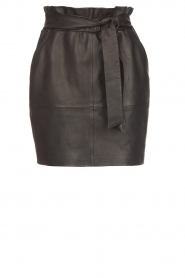 Dante 6 |  Leather skirt with belt Abbey | black  | Picture 1