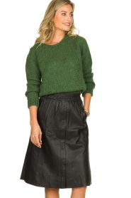 Dante 6 |  Leather skirt Reid | black  | Picture 2