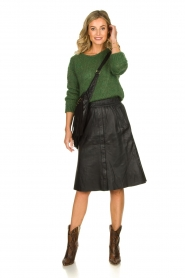 Dante 6 |  Leather skirt Reid | black  | Picture 3