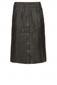 Dante 6 |  Leather skirt Reid | black  | Picture 1