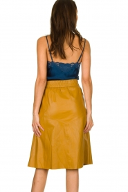 Dante 6 |  Leather skirt Reid | ocher yellow  | Picture 5