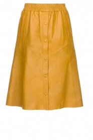 Dante 6 |  Leather skirt Reid | ocher yellow  | Picture 1