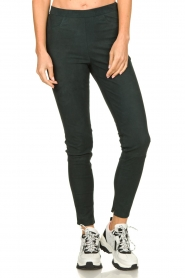 Dante 6 |  Leather suede leggings Campbell | dark green  | Picture 2