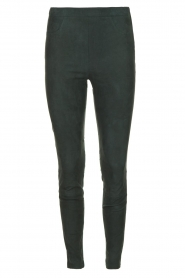 Dante 6 |  Leather suede leggings Campbell | dark green  | Picture 1