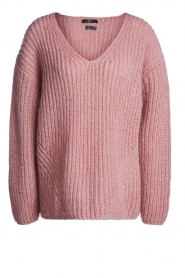 Set |  Chunky knit sweater Groovy | pink  | Picture 1