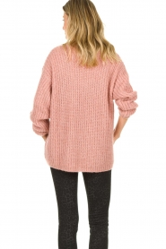 Set |  Chunky knit sweater Groovy | pink  | Picture 6