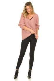 Set |  Chunky knit sweater Groovy | pink  | Picture 3