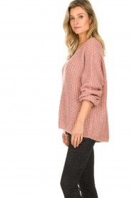 Set |  Chunky knit sweater Groovy | pink  | Picture 5