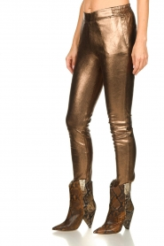 Dante 6 |  Metallic leather pants Lebon | metallic  | Picture 4
