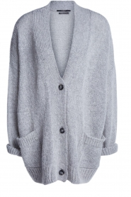 Set |  Knitted cardigan Melange | grey  | Picture 1