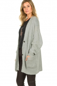 Set |  Knitted cardigan Melange | grey  | Picture 6