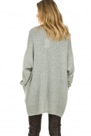 Set |  Knitted cardigan Melange | grey  | Picture 7