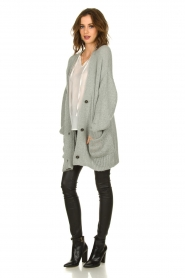 Set |  Knitted cardigan Melange | grey  | Picture 3