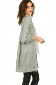 Set |  Knitted cardigan Melange | grey  | Picture 4