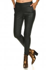 Dante 6 | Leather legging Lebon | dark green  | Picture 2