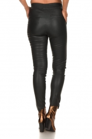 Dante 6 | Leather legging Lebon | dark green  | Picture 5