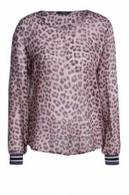 Set |  Top with leopard print Panter | pink  | Picture 1