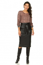 Set |  Top with leopard print Panter | pink  | Picture 3
