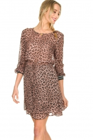 Set |  Top with leopard print Panter | pink  | Picture 4