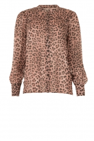 Set |  Blouse with panther print Panter | pink  | Picture 1