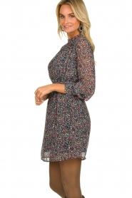 Aaiko |  Dress with floral print Fira | black   | Picture 5