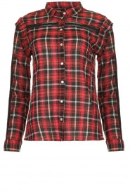 Aaiko |   Plaid blouse Nagoya | red  | Picture 1