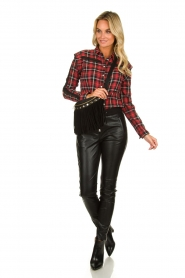 Aaiko :   Plaid blouse Nagoya | red - img3
