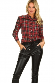 Aaiko :   Plaid blouse Nagoya | red - img2