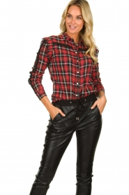 Aaiko :   Plaid blouse Nagoya | red - img4