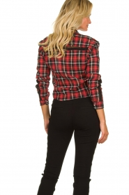 Aaiko :   Plaid blouse Nagoya | red - img6