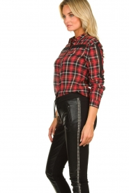 Aaiko |   Plaid blouse Nagoya | red  | Picture 5