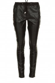 Aaiko |  Imitation leather pants with studs Sosa | black  | Picture 1