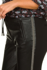 Aaiko |  Imitation leather pants with studs Sosa | black  | Picture 6