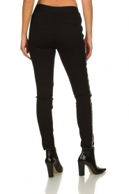 Aaiko |  Imitation leather pants with studs Sosa | black  | Picture 5