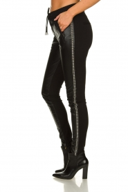Aaiko |  Imitation leather pants with studs Sosa | black  | Picture 4