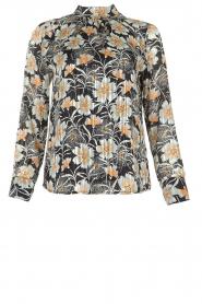 Aaiko |  Blouse with flower print Fayah | black  | Picture 1