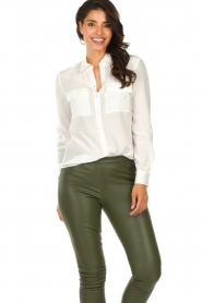 Set |   Blouse with pockets Daz | white  | Picture 2