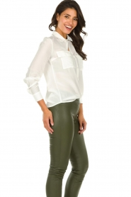 Set |   Blouse with pockets Daz | white  | Picture 4