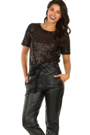 Set |  Sequin top Lulu | black  | Picture 2