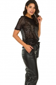 Set |  Sequin top Lulu | black  | Picture 4