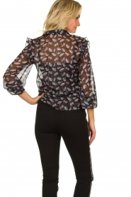 Aaiko |  Blouse with floral print Dio | black   | Picture 5