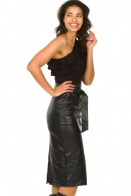 Set :  One-shoulder top Nina | black - img5