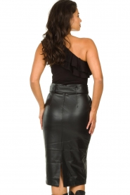Set :  One-shoulder top Nina | black - img6