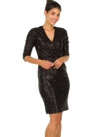 Set |  Dress with sequins Lulu | black  | Picture 4